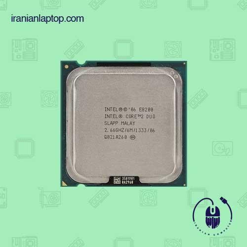 پردازنده تری اینتل مدل Core2 Duo E8200 با فرکانس 2.66 گیگاهرتز