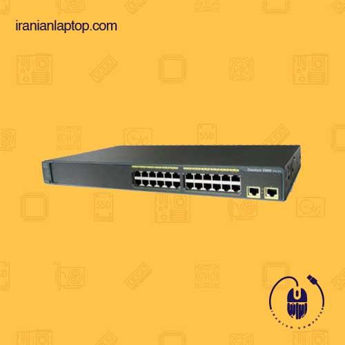 سوئیچ شبکه cisco ws-c2960-24tt-l 24-port